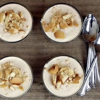 Easy No Bake Banana Yogurt Pudding.