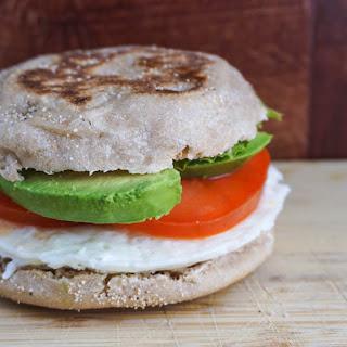 Egg White, Tomato, & Avocado Breakfast Sandwich Recipe