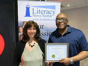 Photo: E. Dale Reddick, 2016 Nova Learning Inc. Nova Scotia Learner Award Winner with Kelly Tobin.