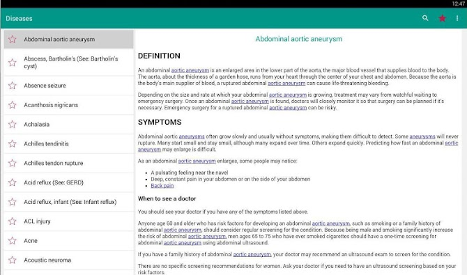 Disorder & Diseases Dictionary Android 9