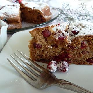 Gluten Free Cranberry Eggnog Coffeecake