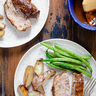 Paleo Barbecue Meatloaf with Roasted Potatoes Recipe