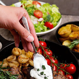 Lamb Loin Chops Recipe with Roasted Potatoes Recipe