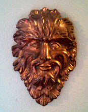 Photo: Greenman a bronze piece I poured using Ernie's furnace to melt the metal. It is 15 inches tall and weighs about 40 lbs.