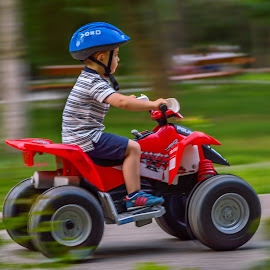 Childhood by Ovidiu Sova - Babies & Children Children Candids ( car, panning, toy, drive, children candids, childhood,  )