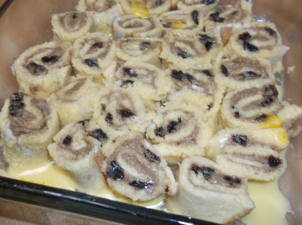 Pour evenly over pinwheels in dish. Cover with aluminum foil and refrigerate for at...