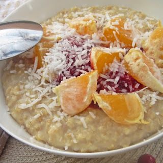 Cranberry, Coconut, and Orange Steel Cut Oatmeal