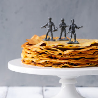 Bourbon Crepe Cake with Bourbon Caramel Chocolate Ganache Recipe