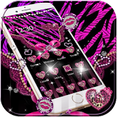 Leopard Zebra print Pink Love