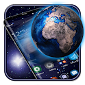 3D Galaxy Space Earth Theme icon