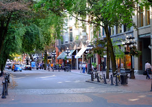 Photo: Gastown where Vancouver originally started.