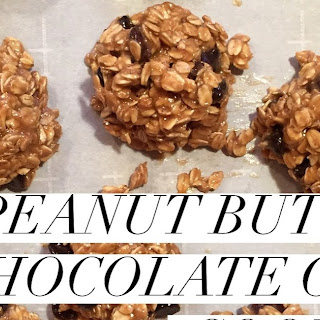 6 Ingredient Peanut Butter Chocolate Chip No-Bake Cookies.
