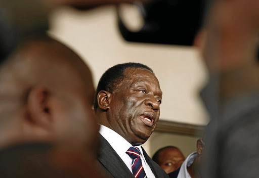 Emmerson Mnangagwa. Picture: REUTERS