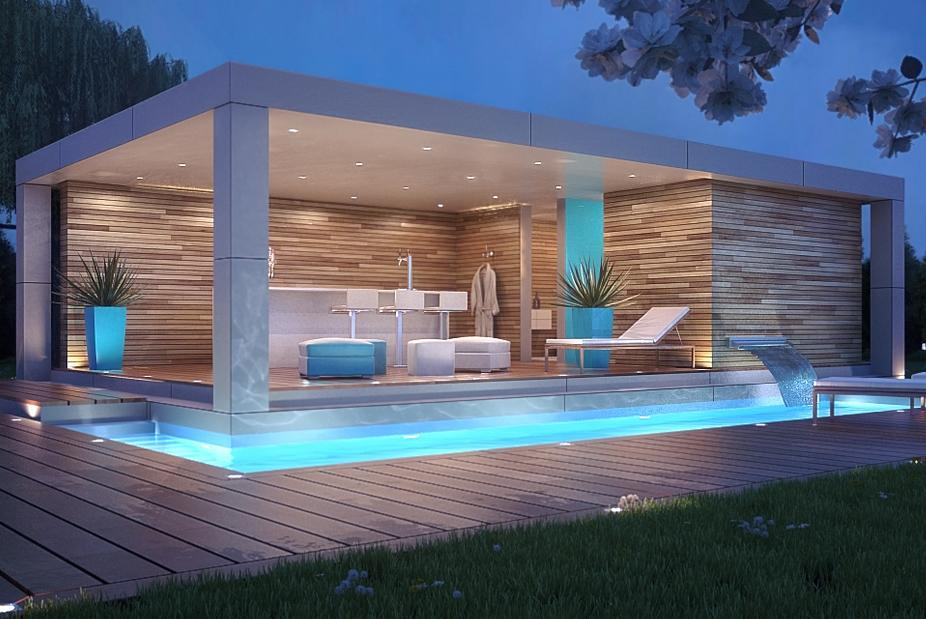 House pool design ideas android apps on google play for Modern house design with pool