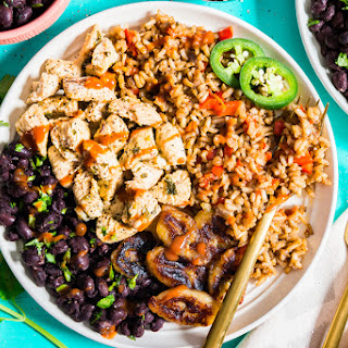 Cuban Rice Bowl with Fried Bananas and Black Beans Recipe