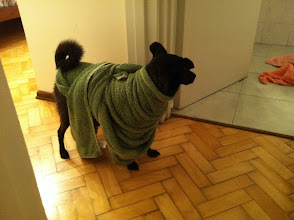 Photo: post bath routine