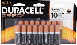 Duracell Coppertop Alkaline Battteries - AA, 1.5V, 16 Count