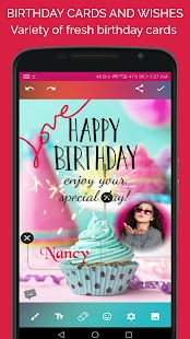 Greeting Photo Editor- Photo frame and Wishes app Screenshot
