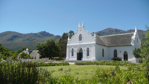 Cape-Town-church - Franschhoek Church near Cape Town was built in 1847.