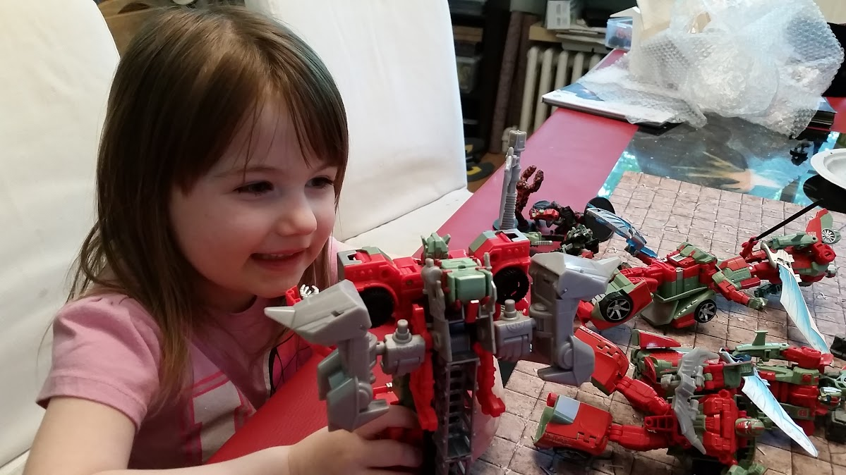My daughter with Victorion