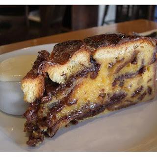 Chocolate Custard Bread Pudding.
