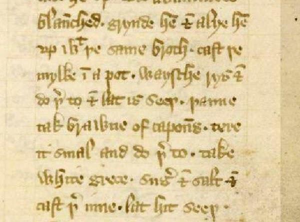 Medieval Blanc Mange/ Blank Maunger (redacted) Recipe