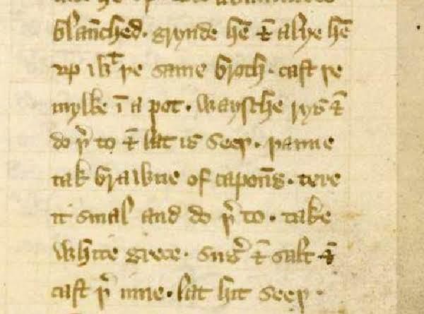 Medieval Blanc Mange/ Blank Maunger (redacted)