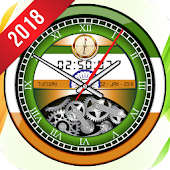 Indian Clock Live Wallpaper 2018: Widget 3D Clock