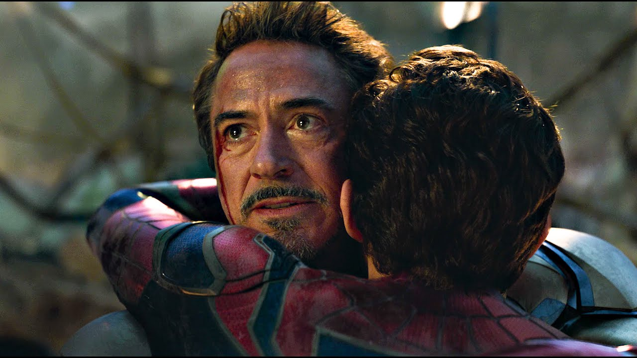 """14. The Hug Scene, Avengers Endgame (2019): This scene was epic and so heartwarming; it will make you cry like a little baby! When Tony hugs Peter after he comes back and Peter's exact words were. """"Oh, this is nice"""". You can clearly see how happy Tony is, and their relationship was so pure!!"""