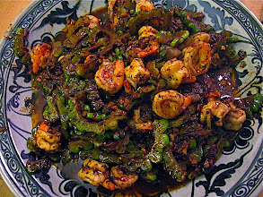 Photo: stir-fried bitter melon with shrimp and salted black beans