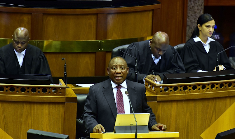 President Cyril Ramaphosa responds to the debate on the State of the Nation Address in the National Assembly on February 20 2018 Picture: ELMOND JIYANE