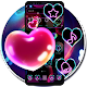 Neon Glowing Heart Theme APK