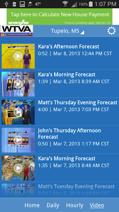 WTVA Weather- screenshot