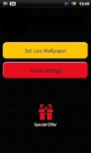 flower clock live wallpaper screenshot 2