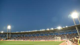 El Estadio Mediterráneo casi lleno ante el Alcorcón.