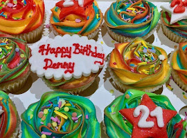 21st colourful cupcakes