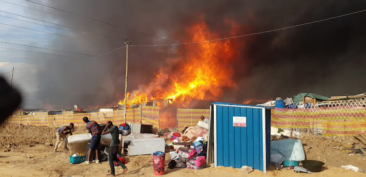 A shack fire broke out on Thursday afternoon in Alexandra, Johannesburg.