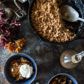Pear Persimmon Skillet Crumble.