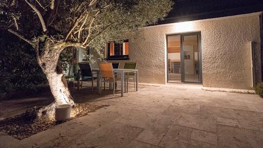 Terrasse toscane de nuit