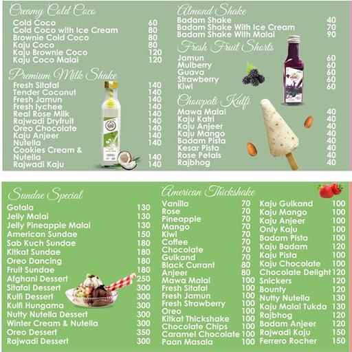 Creamy Heaven menu 1