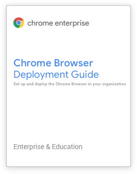 Chrome Browser Deployment Guide title page
