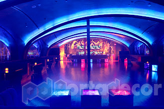 Photo: lighting and lounge furniture hire for the nightclub Glo