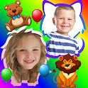 Baby photo collage icon