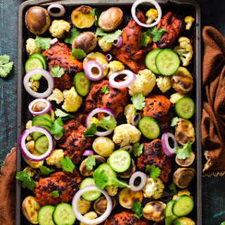 Sheet-Pan Tandoori Chicken and Vegetables Recipe