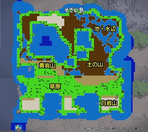 ワビサビ島のマップ