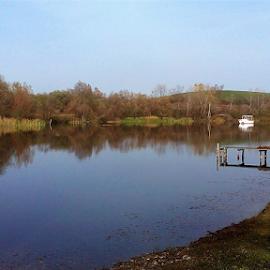 Lake&boat by Sibi Sibi - Novices Only Landscapes ( #fall, #boat, #lake, #autumn, #reflextion )