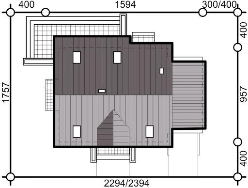 Sowa 3 z garażem - Sytuacja
