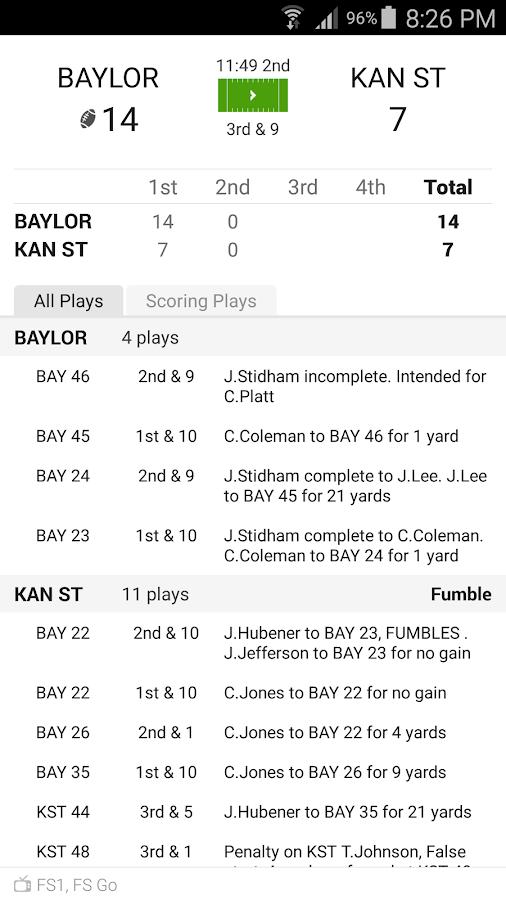 google ncaa football scores college football schedual