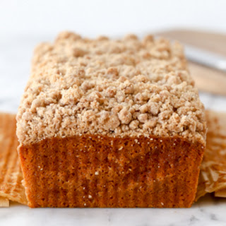 Applesauce Carrot Cake Loaf with Streusel Topping
