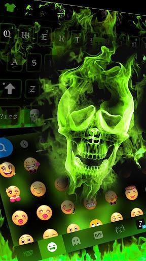 Hell Fire Keyboard Theme – Skull, Uniqueness, Cool Screenshot